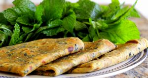 Pudina Paratha Recipe - vegetarian recipes