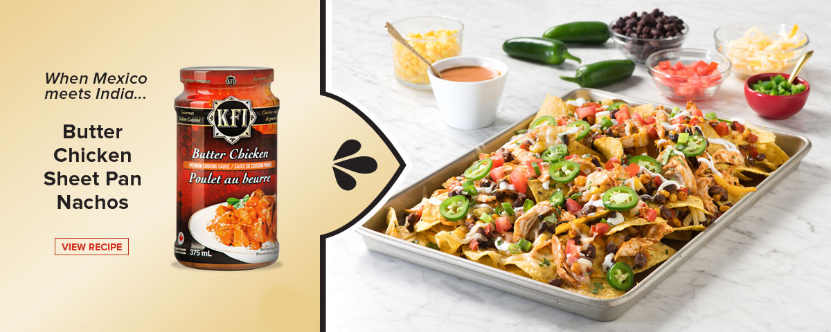 An Indian twist on nachos - Butter Chicken Nachos recipe