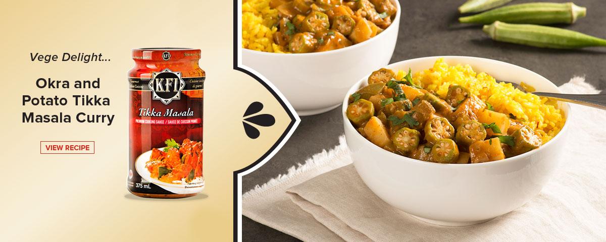 KFIsauces.com Okra and Potato Tikka Masala Curry