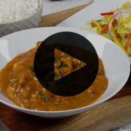 Coconut Chicken Curry & Mango Salad Recipe