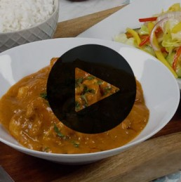 Coconut Chicken Curry & Mango Salad Recipe