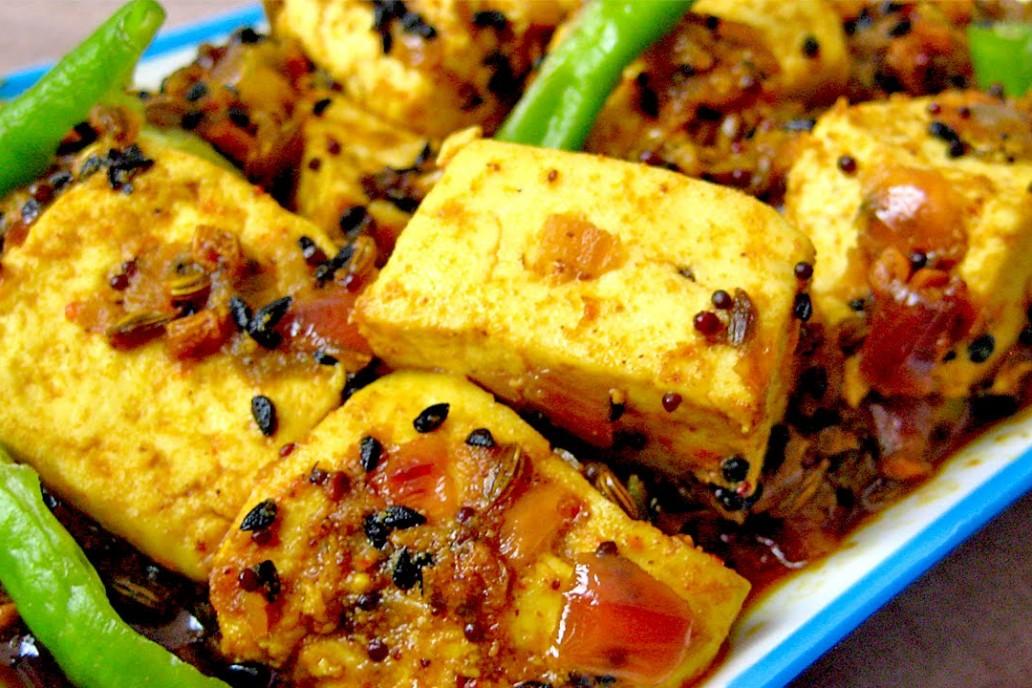 Achari (Pickled) Paneer Recipe - Vegetarian recipes