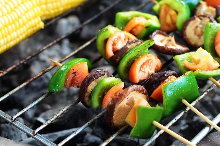 Garlic Mushroom Kebab Recipe - vegetarian recipes