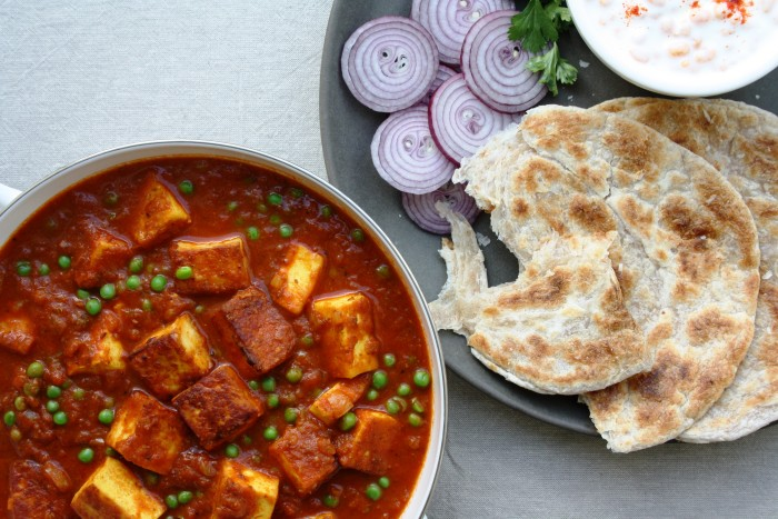 Matar paneer cheese green peas curry kfi sauces an indian dish consisting of paneer cheese and peas in a sweet and spicy sauce some people also add aloo potato to it it is similar to palak paneer forumfinder Choice Image