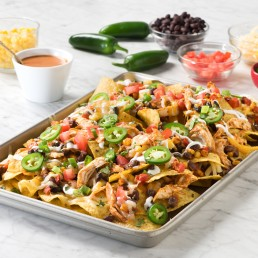 Butter Chicken Sheet Pan Nachos Recipe made with Butter Chicken Sauce