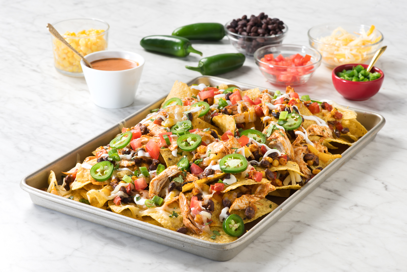 Butter Chicken Sheet Pan Nachos | KFI Sauces