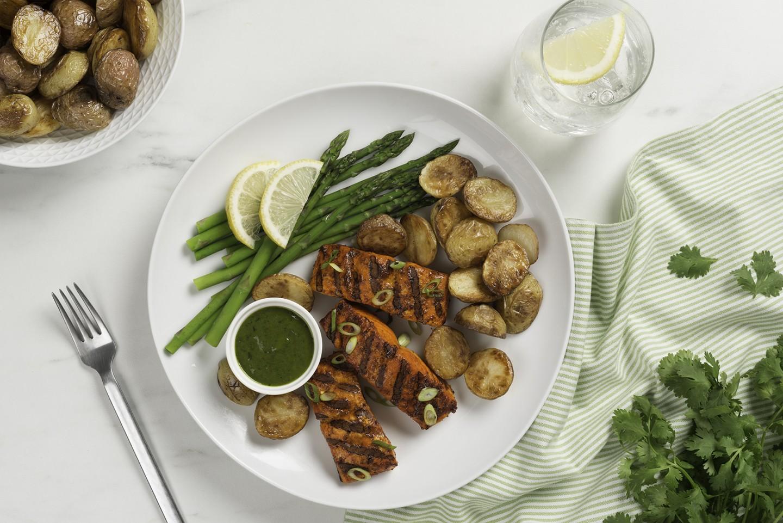 Grilled Tikka Salmon recipe