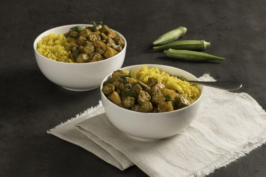 Okra and Potato Tikka Masala Curry recipe - Vegetarian recipe